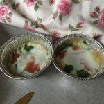 Muffins de jamón queso y albahaca